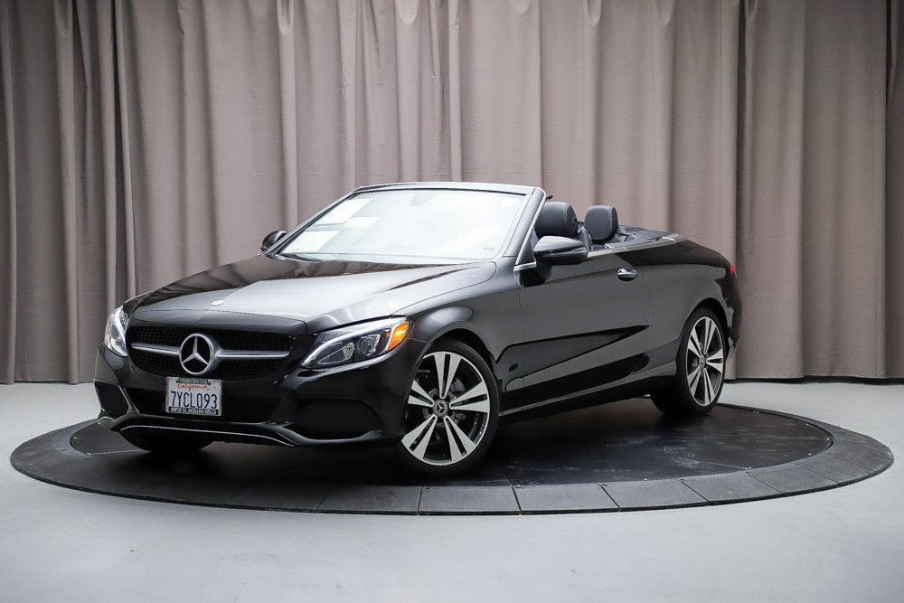 certified pre-owned 2017 mercedes-benz c-class c 300 convertible in
